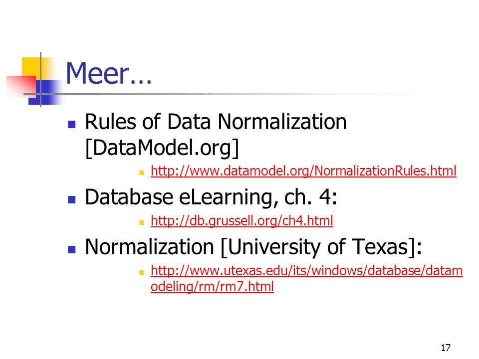 Meer… Rules of Data Normalization [DataModel.org]